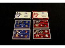 Complete 1999 U.S. Mint Silver Proof Set [D,P] Lot 528