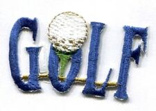 GOLF WORD BLUE IRON ON PATCH