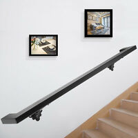 ​​Modern Handrails for Stairs Bracket Iron Handrail Black Stair Railing