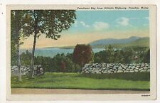 Penobscot Bay from Atlantic Highway CAMDEN ME Vintage Knox County Maine Postcard