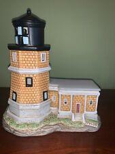 "1995 Geo Z Lefton 10723 Split Rock Lighthouse Minnesota 3"" Ceramic Figurine Nice"