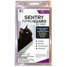 Sentry Fiproguard  Flea and Tick Topical Drops for Cats 3 doses