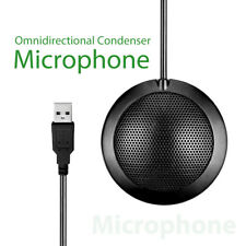 360° Omnidirectional USB Wired Microphone Office Meeting Noise Echo Canceling UK