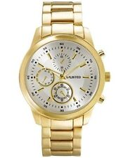 Unlisted By Kenneth Cole 10027764 Gold Tone Metal Watch Stainless Steel Caseback