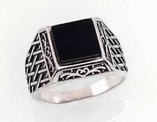 Markenlose Onyx Echtschmuck-Ringe aus Sterlingsilber