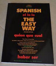 Barron's Easy Way: Spanish the Easy Way quien que cual 2nd Edition Workbook