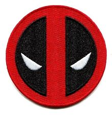 DEADPOOL mask icon IRON-ON PATCH Marvel Comics Embroidered Licensed New p-mvl-7
