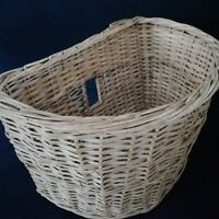 Wicker Bicycle Basket Vintage 1940s