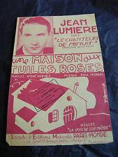 Partition Une maison aux tuiles roses de Paul Misraki 1937