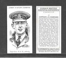 Type Cards: Lambert & Butler: Famous British Airmen & Airwomen VG+ condition.