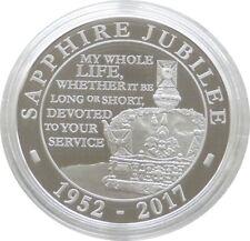 2017 Royal Mint Sapphire Jubilee UK £5 Five Pound Silver Proof Coin Box Coa