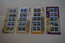 JAPAN 2014-2016 Japanese Castle Series No. 3 - 6  Mini S/S stamps