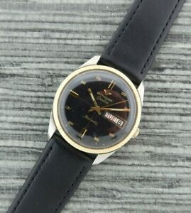 Vintage 2873-D11KAS Wittnauer Automatic Men's Watch Stainless  + 10k Gold Cap