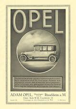 Adam Opel Automobile Rüsselsheim a. M. Limousine Plakat Braunbeck Motor A1 471