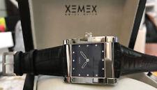 XEMEX Avenue Midsize  Designer Uhr Saphirglas Zifferblatt Perlmutt schwarz