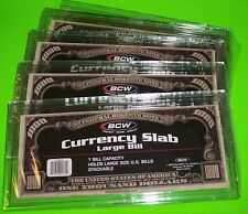 5 Deluxe Currency Slab Large Bill - Rigid, Holds 1 U.S. Bill & Other Currency