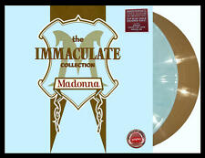 MADONNA Immaculate Collection 2xLP on BLUE/GOLD COLOR VINYL New SEALED Sire