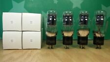 Matched Quad of RCA 2A3 Spring Top Black Plate Vacuum Tubes