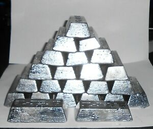 15-16lbs LEAD INGOTS $2.00 PER LB, MELTED FROM BOAT KEELS & PIPE LEAD