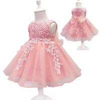 Formal princess tutu flower kid dress girl party bridesmaid wedding baby dresses