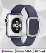 Apple Watch Lederarmband blau Gr. L (MJ5D2ZM/A - blau - Large)