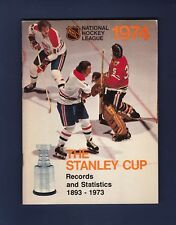 1974 National Hockey League The Stanley Cup Guide w/Tony Esposito &  Cournoyer
