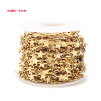 1M Gold Handmade Star Chain Stainless Steel DIY Chain Findings for DIY Jewelry