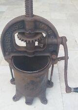 Antique Cast Iron Enterprise 4 quart Sausage Press Stuffer No. 25