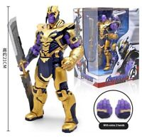 "8"" Armor Thanos Action Figure Toy Model With Sword Avengers Endgame Collection"