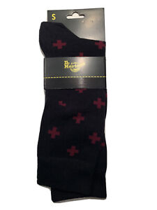 Dr. Martens Size Small Airwair Crew  Socks Cross Logo Socks Black Cherry Red
