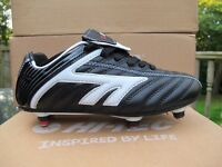 Boys Hi-Tec League SI Jr Black Lace Up Football Boots 13 - 4 uk red screw in jnr
