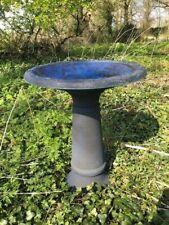 Blue Coniston Bird Bath & Tall Stem