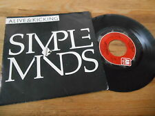 "7"" POP SIMPLE MINDS-ALIVE & Kicking/up on the catwalk (2) canzone a&m US PRESS"