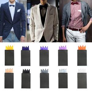 Men Square Handkerchief Pre-fold Pocket Solid Wedding Formal Party Decor Supply