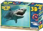 """Jigsaw 3D Puzzle Discovery Shark Week 24"""" by 18"""" 500 Piece - Open Jaws Shark"""