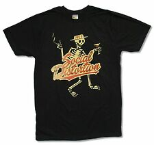 Social Distortion Yellow Skelly Black T Shirt New Official