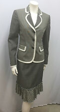 VINTAGE MOSCHINO CHEAP & CHIC SUIT JACKET SKIRT PLAID PINSTRIPE GINGHAM I 42 8 S