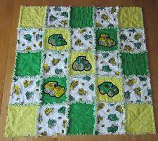 John Deere Kids Fabric JOHNNY TRACTOR Rag Quilt Baby Blanket