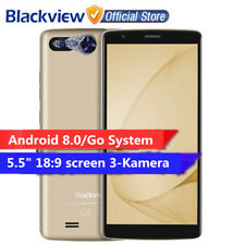 3x SONY CAM 5.5'' Blackview A20 Cellulare Android8.0 3G 8GB 4Core 2SIM 3000mAh