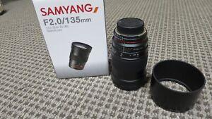 Samyang 135mm F2.0 ED UMC Telephoto Lens for Nikon Digital SLR Cameras