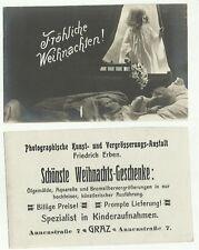 137044 cartolina auguri augurale buon natale frohliche weinhacht
