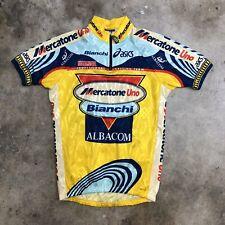 Asics Mercatone Uno Bianchi Cycling Jersey Medium Short Sleeve