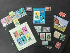 TENNIS AND TABLE TENNIS (Ping pong): 3 minisheets+ 28 stamps with series