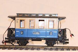 LGB G-Gauge Class 2 Passenger Car Blue-Beige Light Kit, Germany Vintage 3012