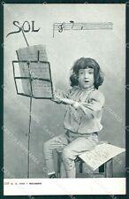 Musica Spartito Note Bimbo Editore Bologna Pini cartolina QT5338