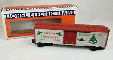 LIONEL Trains -  1988 CHRISTMAS BOX CAR  6-19904 O Gauge white & Red Tree Holly