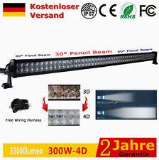 """300W 52"""" Rampe 4D LED Lichtleisten12V-24V Offroad 4x4 Scheinwerfer Feuerwehr 48w"""