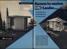 Bauplan Gartenhäuschen,Laube,Holzhaus,Hütte,8,30qm,Original mitte der 60er Jahre