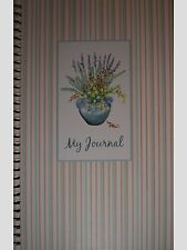 Potted Plant Flowers Lavender Striped Journal/Notebook