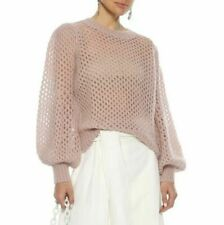ZIMMERMANN Unbridled Mohair-Blend Crop Sweater Jumper Sz1 US 4-6